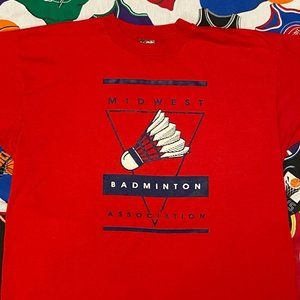 Vintage 1990s Midwest Badminton Association Shirt